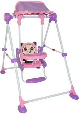 Baby foldable swing pink and purple color combination