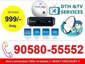 70% Discount Offer On Tata sky HD TATASKY Airtel DishTV Videocon D2H!!