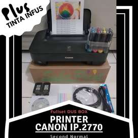 Printer Second Canon Pixma IP.2770 Tabung Tinta Infus Baru