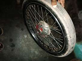 Tyre with rim hub for sale