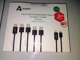 Kabel Micro Usb  semua tipe (1 set isi 5 jenis kabel)