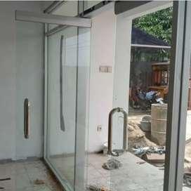 Kusen aluminium pintu kaca lipat a2069n
