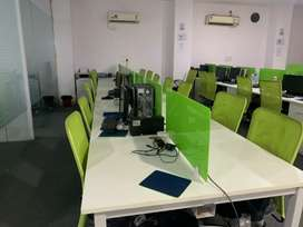 in H block 40 workstations 2 cabin conference etc 4 rent in sec 63