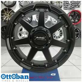 Velg Everest Fortuner Pajero Triton Monster R20X9 hole 6x139.7 ET10