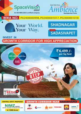 Rera nd DTCP approved plots for sale at sadashivpet