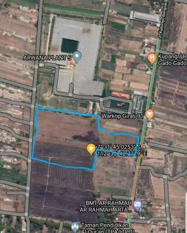 Jual Murah tanah siap bangun Pabrik/ Gudang di mojokerto