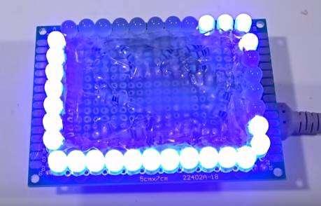 18 channel modul kedip Kit Led Chaser lampu berjalan running light 0