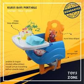 Kursi Makan Anak Bayi Lipat Portable Multifungsi Aman Murah bisa COD