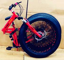 Fat Foldable Cycle with 21 Speed Gears: Mountain Bike 26T