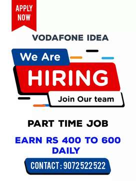 400 rs to 600 daily salary Part time job