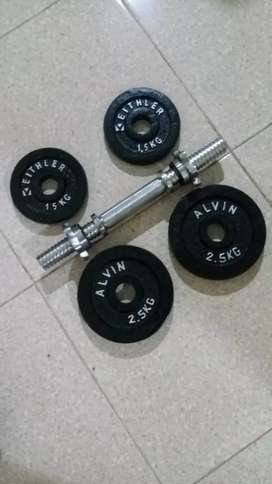 Barbel / dumble set 10kg. FREE ONGKIR
