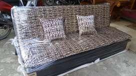Sofabed bahan bludru + 2bantal