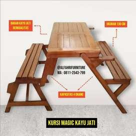 kursi lipat kayu magic