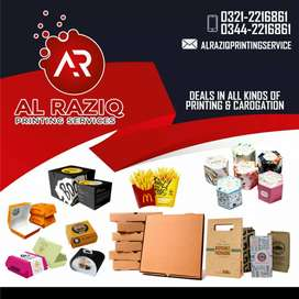 Printing services and pizza box