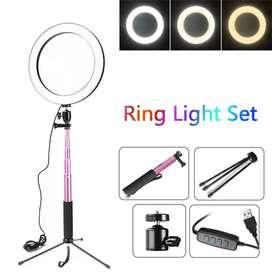 Lampu Halo Ring Light LED Kamera 16CM -
