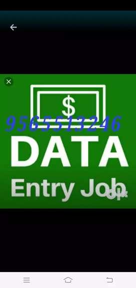 Offline typing work earn money at home based data entry job