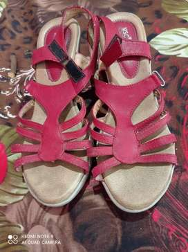 Red butterfly sandals
