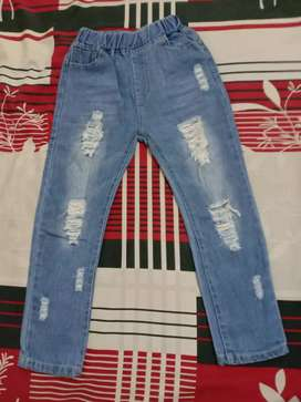 Celana riped jeans anak perempuan