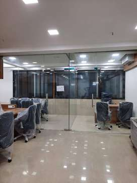 call to get beautifully furnished 1300 sqft office on rent