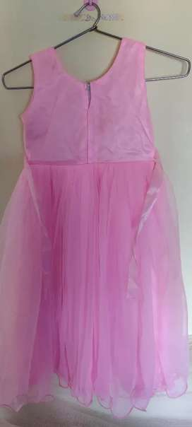 Barbie frock long gown  for 3 to 5 yrs kids baby pink color size 22