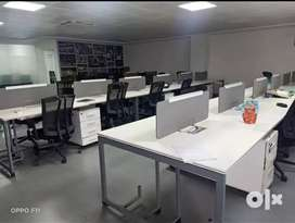 Fully Furnished ac 3000 sqft 60 work station, conference room, cabins