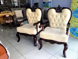 Brand new pair of chair made of teek wood with 10 year warrenty