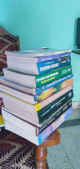Set Of 12 Engineering Used Books for Rs 1200/-