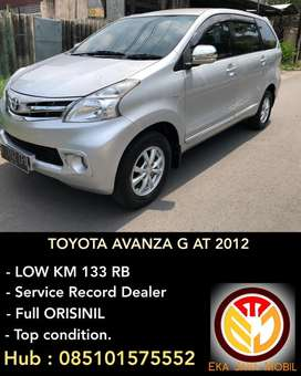 [DP 25JT]Toyota AVANZA G AT 2012 ISTIMEWA bs tt xenia, ertiga, terios