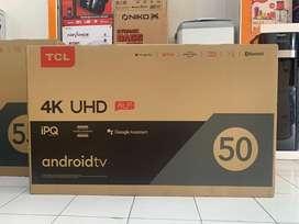 LED TV TCL 50 inch -android tv -4 k -Garansi resmi