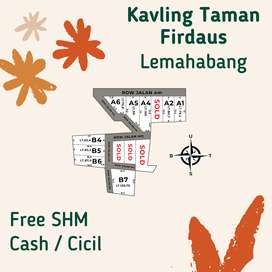Dijual Tanah Kavling Taman Firdaus Lemahabang