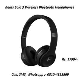 BEATS SOLO3 BLUETOOTH WIRELESS HEADPHONES DELIVERY AVAILABLE ALL PAK