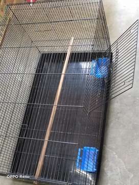 Exotic black heavy mesh imported bird cage for sale.