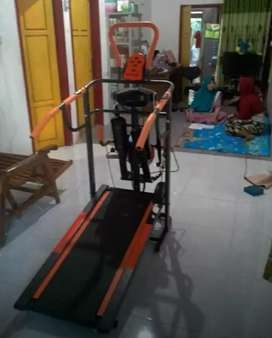 Manual treadmil 6Fungsi# Central sports