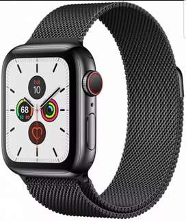 Apple watch series 5 44mm GPS aluminium case with milanese loop