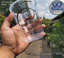 Sablon cup gelas plastik