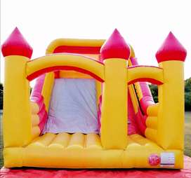 Kids chair table jumping castle slide balloon decor magic show games