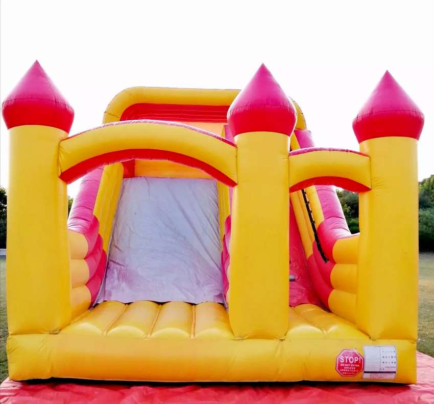 Kids chair table jumping castle slide balloon decor magic show games 0