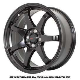 modifkasi jdm style ring 17 semi matte black rata 75