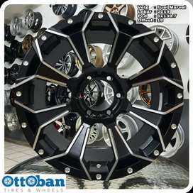 Velg mobil Fortuner Pajero Everest Fuel Marvel R20X9 hole 6x139.7 ET18
