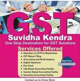 Contact for Gst Registration Return, Itr Accounting