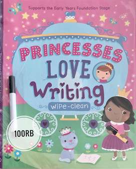 Jual Buku Import Anak 2-5 tahun Wipe Clean (Princess Love Writing)