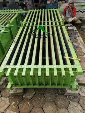 Cetakan beton panel pagar stok ready