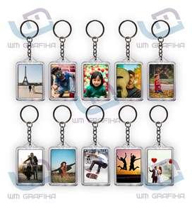 Gantungan Kunci Foto Custom 2 Sisi Insert Paper