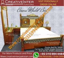 Double bed set new sofa center table iron stand Wardrobe coffee Chair