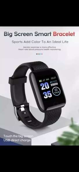 D13 smart band for kids in black colour