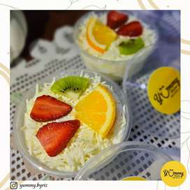 Salad buah, kue2 kering