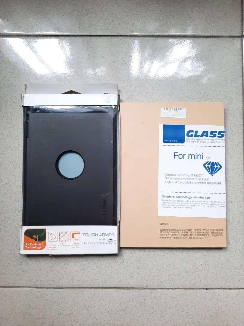 Bundling Case Tough Armor & Tempered Glass for iPad Mini 1 2 3 0