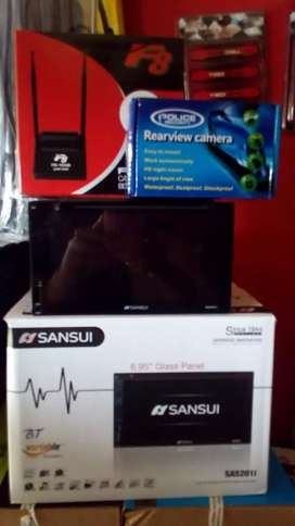 Doubledin tv sansui+Antena tv+Camera+Psang