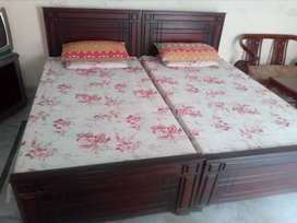 Used Good Condition Single Beds Pair