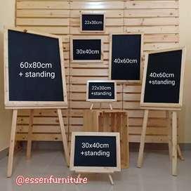 Blackboard Papan tulis Kapur aneka ukuran. ukuran 3040 standing.